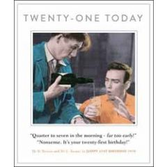 21 jaar grote verjaardagskaart - twenty-one today