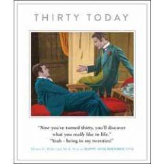 30 jaar grote verjaardagskaart - thirty today