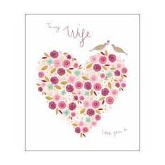 .. jaar getrouwd, samen - wenskaart woodmansterne - to my wife love you x