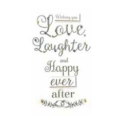 grote luxe trouwkaart - wishing you love laughter and happy ever after