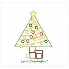 10 kerstkaarten - fijne feestdagen - kerstboom