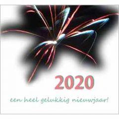 10 nieuwjaarskaarten - 2020 een heel gelukkig nieuwjaar! - vuurwerk