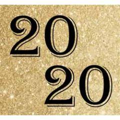 10 nieuwjaarskaarten - 2020 - zwart goud