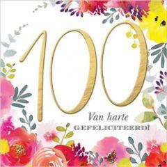 100 jaar - verjaardagskaart - van harte gefeliciteerd!