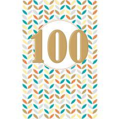 verjaardagskaart lucky numbers - 100 jaar