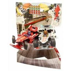 3D kaart - swing cards - race auto