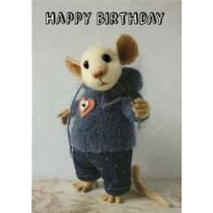 santoro tiny squee mousies verjaardagskaart - happy birthday - 2