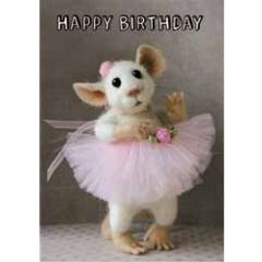 santoro tiny squee mousies verjaardagskaart - happy birthday