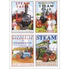 wenskaart clanna cards - steam fair - stoommachines