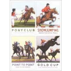 wenskaart clanna cards - paardensport