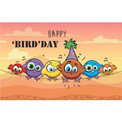 verjaardagskaart - happy bird day