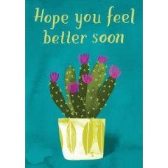 beterschapskaart roger la borde -  hope you feel better soon - cactus