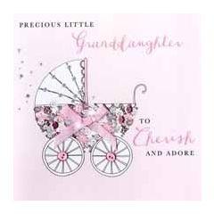 luxe geboortekaart kleindochter - precious little granddaughter to cherish and adore