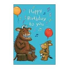 verjaardagskaart the gruffalo - happy birthday to you...