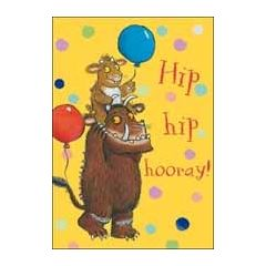 verjaardagskaart the gruffalo - hip hip hooray!