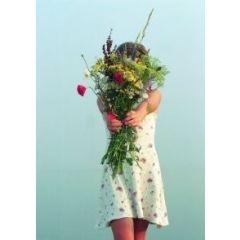 ansichtkaart  - bloemenfee
