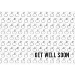 ansichtkaart  beterschapskaart - get well soon - appels