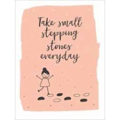 wenskaart  piano small notecards - take small stepping stones everyday