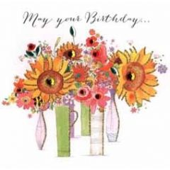 verjaardagskaart - may your birthday... - bloemen