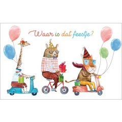 verjaardagskaart - waar is dat feestje