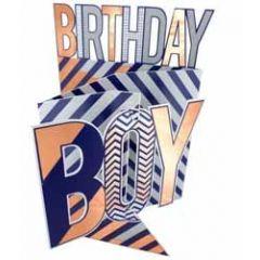 3d verjaardagskaart cutting edge - birthday boy