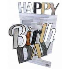 3d verjaardagskaart cutting edge - happy birthday