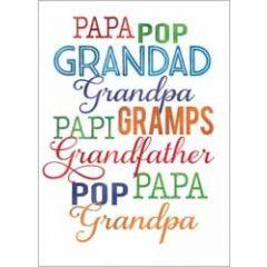 verjaardagskaart -  papa grandad grandpa pop