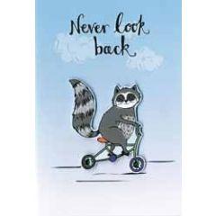 wenskaart hello you - never look back