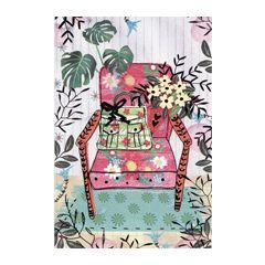 felicitatiekaart - stoel met tas en planten