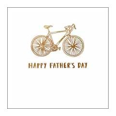 vaderdagkaart woodmansterne - happy father's day - fiets
