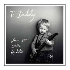 vaderdagkaart woodmansterne - to daddy from your little rockstar