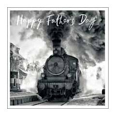 vaderdagkaart woodmansterne - happy father's day - stoomtrein
