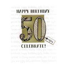 50 jaar - grote verjaardagskaart A4 - happy birthday 50 celebrate