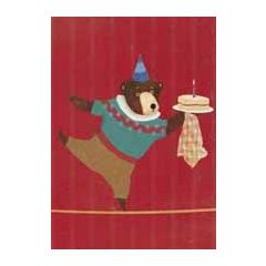 verjaardagskaart carrie may - beer met taart