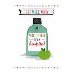 beterschapskaart - Get Well Soon Sorry to hear You are in hospital - ziekenhuis