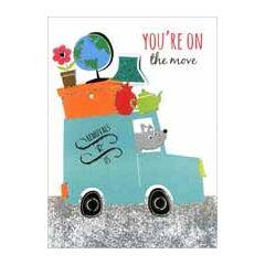 wenskaart nieuwe woning - You are on the Move - verhuiswagen