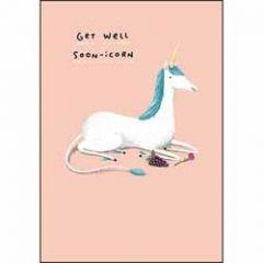 beterschapskaart - get well soon-icorn - eenhoorn