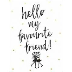 wenskaart piano small notecards - hello my favourite friend!