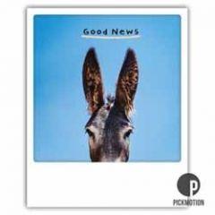 ansichtkaart instagram pickmotion - good news - goed nieuws - ezel