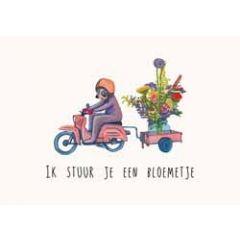 ansichtkaart katja kaduk - ik stuur je een bloemetje