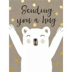 wenskaart  piano small notecards - sending you a hug - beer