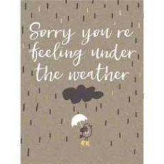 beterschapskaart  piano small notecards - sorry you are feeling under the weather