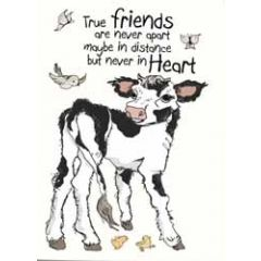 wenskaart mouse & pen - true friends are never apart maybe in distance but never in heart