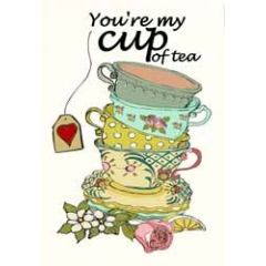 wenskaart mouse & pen - you are my cup of tea