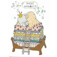 wenskaart mouse & pen - sweet dreams!! - olifantje
