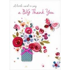 bedankkaart - a little card to say a big thank you - bloemen
