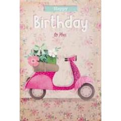 verjaardagskaart - happy birthday to you - scooter