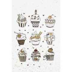 wenskaart - cupcakes