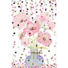 felicitatiekaart - bloemen en confetti