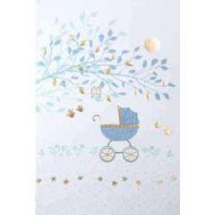 geboortekaartje - kinderwagen blauw